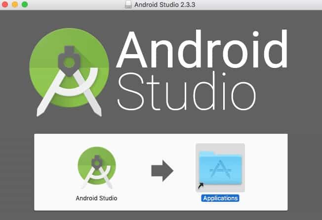 Pantalla de inicio de instalación de Android Studio.