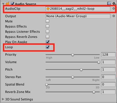 Configuracion del Audio Source de Main Camera